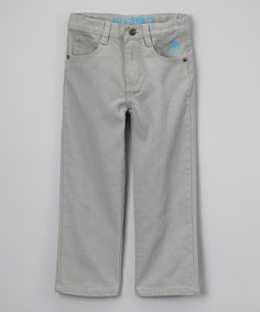 Look what I found on #zulily! Light Gray Pants - Toddler & Boys #zulilyfinds