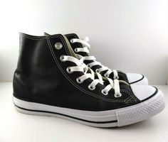 d24558070b0f Shoes and Boots · Converse Chuck Taylor All Star Hi Top Black White Leather  132170c, Men 6 Women 8