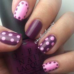 Purple dot on purple! Nail art
