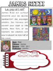 Quand t'es maicresse,tu cherches des documents sur James Rizzi. Art