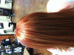 Red Copper hair with blonde highlights! Courtesy of t.duke salon