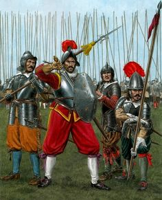 Returning to Europe. Imperial pikemen, early 30 Years War