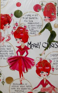 Cute girly  vintage gift wrap