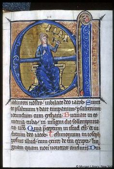 Psalter-hours (MS M.94). Cologne, Germany, between 1250 and 1274.  MS M.94  fol. 77r; Psalm 081
