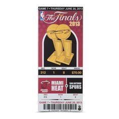 LeBron James Signed 2013 NBA Finals Game 7 Mega Ticket
