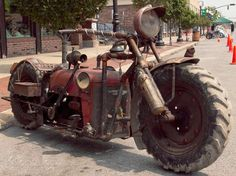 "We stumbled upon this extremely rare custom tractor bike and thought that it was too cool! It's not the prettiest thing or the fastest, but if you love rusty old tractors or rat bikes this tractor bike build is brilliant. Check out the footage of this tractor bike in action below. ""Here is a hand…"