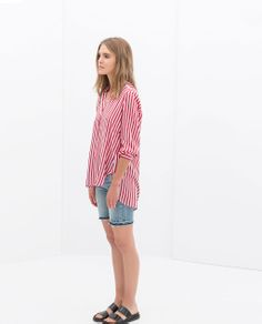 ZARA - TRF - STRIPED SHIRT