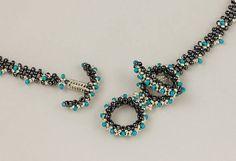 Mermaid's Scrolls beaded necklace/ PDF file
