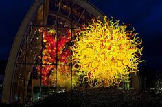 Dale Chihuly's glass sculptures on display in Seattle.