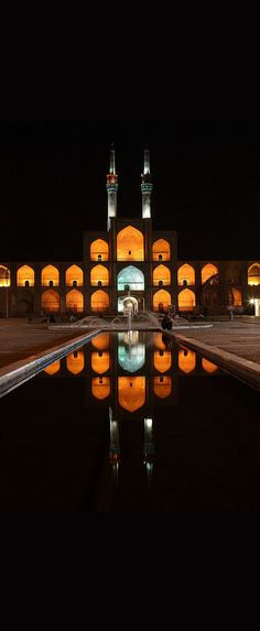 Amir Chakhmaq Complex, Yazd, Iran - I have never left, I will always love you Persian Architecture, Beautiful Architecture, Art And Architecture, Qajar Dynasty, Visit Iran, Iran Travel, Islamic Art, What A Wonderful World, Middle East