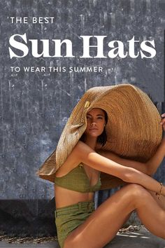 7 of the Best Sun Hats with Full Sun Protection Floppy Straw Hat, Sun Protection Hat, Day And Mood, Wide Brim Sun Hat, Shopping Places, Stripes Design, Beach Day, Sun Hats, Fancy