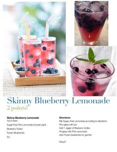 Fun low calorie vodka lemonade