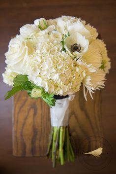 White wedding bouquet - Blackbird Photography
