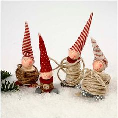 Spool Elves  ( source does not give any directions so use your imagination & vision)