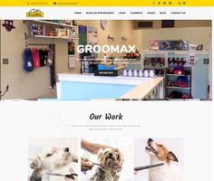 Groomax - ModelTheme Grooming Shop, Pet Grooming, Pet Services, Amazing Websites, Shopping Websites, Make More Money, Custom Logos, Wordpress Theme, Cool Designs