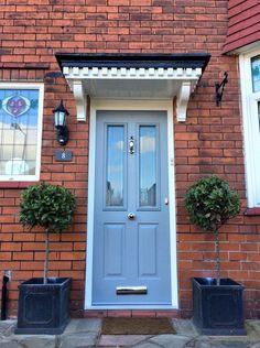 Victorian-Style-Solidor Exterior Door Colors, Exterior Front Doors, Front Door Colors, Victorian Front Doors, Victorian Porch, Porch Hood, Porch Canopy, Front Door Lighting, Composite Front Door