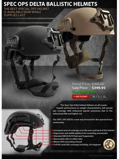 The Helmet You Must Have! $399 #SecPro #SecurityProUSA #Security #Pro #USA #Tactical #Military #Law #EmailBlast #Newsletter #Promo #Helmet #DELTA #SpecOps #Ballistic
