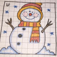 #doodlewithusindecember Day 6- Snowman. #bujo #doodledaily #bulletjournaljunkies