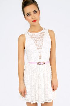 Lace cut out back cage dress