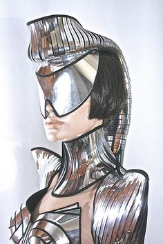 futuristic ponytail mohawk cyborg goggles sci fi by divamp