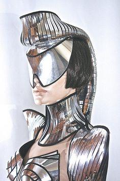 futuristic ponytail mohawk cyborg goggles sci fi by divamp