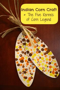 Discuss how the Native Americans helped the pilgrims by reading the Five Kernels of Corn Legend and making this simple decorative Indian corn craft.