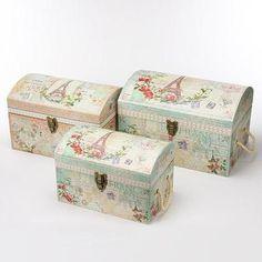 限定品トレジャーチェストBOXセット パリ ボタニカルドリーム [PunchStudio] ■サイズ:大:約41.9x31.1x26.7(高さ)cm  中:約36.2x24.1x24.8(高さ)cm  小:約31.1x20.3x20.3(高さ)cm  ※大中小の3点セットです  ■生産:中国