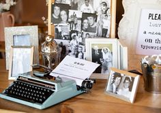 typewriter wedding guest book http://hbaphotography.com/