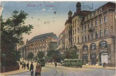 A #vintage 1920's greeting card of #Plauen's famous Cafe Trömel. Image: Lars Buchmann #germany