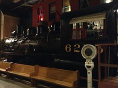 Steam train at Goderich museum