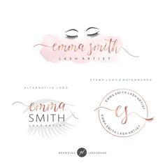 Eye lash logo design Lash extension salon Boutique by GDLogoDesign Logo Inspiration, Makeup Artist Logo, Makeup Artists, Hair Salon Logos, Eyelash Logo, Lashes Logo, Beauty Salon Logo, Blog Logo, Boutique Logo