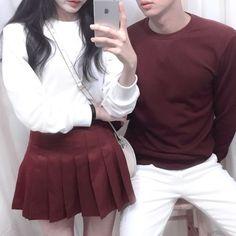 20 ไอเดียแฟชั่นคู่รัก Couple Outfit โชว์หวานสไตล์คู่รักเกาหลี แบรนด์ thexxxy รูปที่ 9