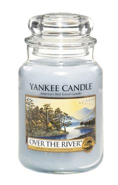 Yankee Candle Over The River. Literally my favorite scent EVER. Smells like really amazing men's cologne.