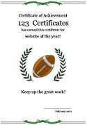 football certificate templates - free printable football award certificate in pdf and doc