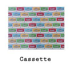 Estampado propio Cassette. Imprreso sobre polipiel eco. #fabric #cassette #retro #tape #music #leatherette #polipiel #design