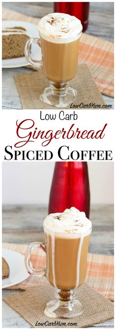 A low carb gingerbread spice coffee recipe that is a perfect beverage to enjoy during the holiday festivities. It adds a nice touch of spice to coffee. Spiced Coffee, Coffee Recipes, Drink Recipes, Paleo Coffee, Dessert Recipes, Low Carb Drinks, Healthy Drinks, Diabetic Drinks, Deserts