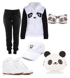"""panda panda panda"" by sassyred89 on Polyvore featuring NIKE and Accessorize"
