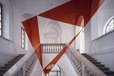 """Felice Varini is a Swiss artist known for his geometric """"perspective-localized"""" paintings of rooms and other architectural surfaces, using projector-stencil techniques. Visit his website"""