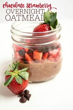 chocolate strawberry overnight oatmeal