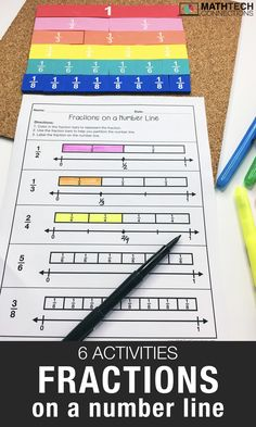 6 Activities to Practice Fractions on a Number Line - Math Tech Connections 3rd Grade Fractions, Teaching Fractions, Fractions Worksheets, Third Grade Math, Math Fractions, Teaching Math, Equivalent Fractions, Grade 3, Adding Fractions