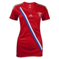 Russia 12/13 Home Women's Soccer Jersey