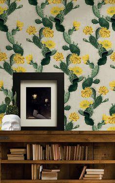Milton & King KINGDOME HOME Cactus KH021 Yellow Day
