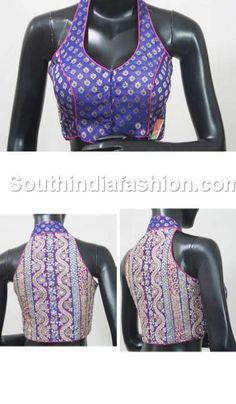 Love this cut Saree Blouse Neck Designs, Choli Designs, Indian Attire, Indian Outfits, Indian Blouse, Blouse Models, Blouse Styles, Indian Fashion, Blouses For Women