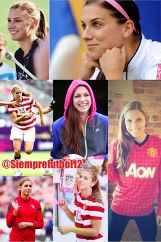 Alex Morgan what and she's a MAN U fan!