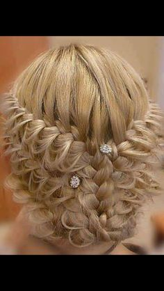 Cool braided updo {Photo courtesy of Hair & Makeup by Steph} Braided Updo, Braided Hairstyles, Wedding Hairstyles, Lace Braid, Braided Crown, Bridesmaid Hairstyles, Homecoming Hairstyles, My Hairstyle, Pretty Hairstyles