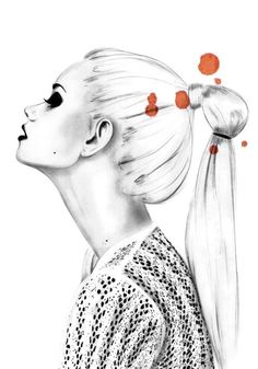 Stylish fashion illustration - contemporary fashion drawing // Kornelia Debosz