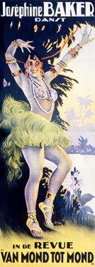 Josephine Baker Dance Review Fine Art Print