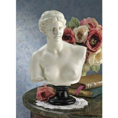 Venus DE Milo Bust Design Toscano classic statue Aphrodite busts classic bust, Beige Off-White (Resin) Strawberry Decorations, Greek Beauty, Small Figurines, Family Painting, Goddess Of Love, Ceramic Figures, Tree Sculpture, Bronze Sculpture, Vaporwave