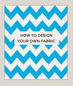 Have you ever struggled to find the perfect fabric? Do you fancy personalising your sewing projects with fabric you've designed yourself? I know I do, but the world of fabric design can seem like a bi