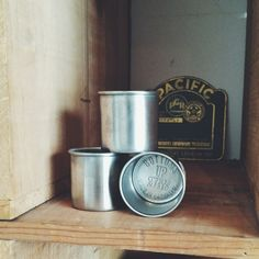 Pretty darn adorable. Set of 3 Bottoms Up Shotglasses by Brooklyn, NY based @owenandfred. Stainless steel. $30. #oaksupplyco #madeinamerica #brooklyn #bar